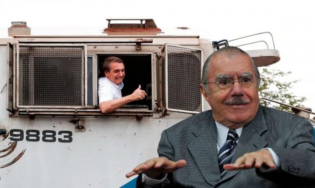 Fotomontagem: Jair Bolsonaro e José Sarney