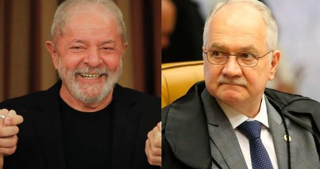 Lula e Edson Fachin (Reprodução)