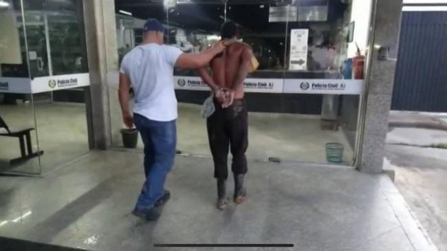 Um dos presos na ação - Foto: Reprodução