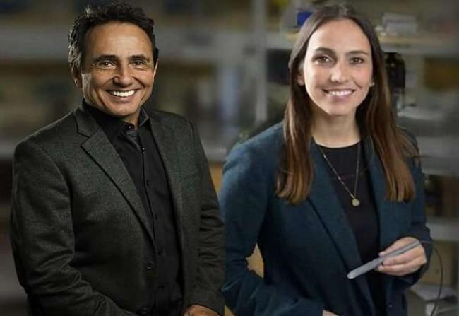 Marcos Eberlin e a filha Lívia