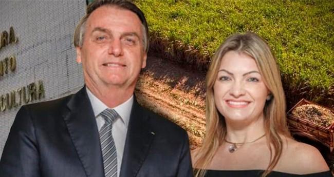 Jair Bolsonaro e Aline Sleutjes