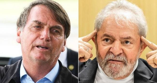 Fotomontagem: Jair Bolsonaro e Lula - Antônio Cruz/Agência Brasil; Theo Marques//Reprodução