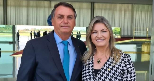 Jair Bolsonaro e Aline Sleutjes (Reprodução)