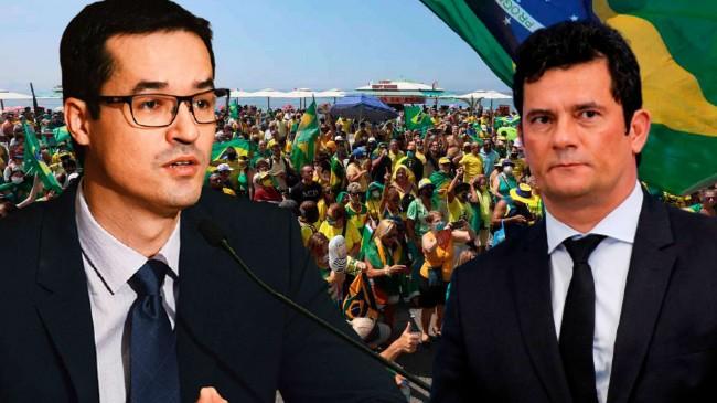 Fotomontagem: Deltan Dallagnol e Sérgio Moro (Reprodução)