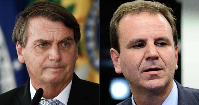 Fotomontagem: Jair Bolsonaro e Eduardo Paes (Reprodução)