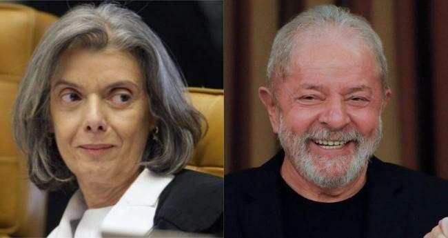Fotomontagem: Cármen Lúcia e Lula