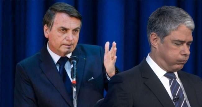 Jair Bolsonaro e William Bonner - Foto Foto: Valter Campanato/Agência Brasil; Reprodução/Globo