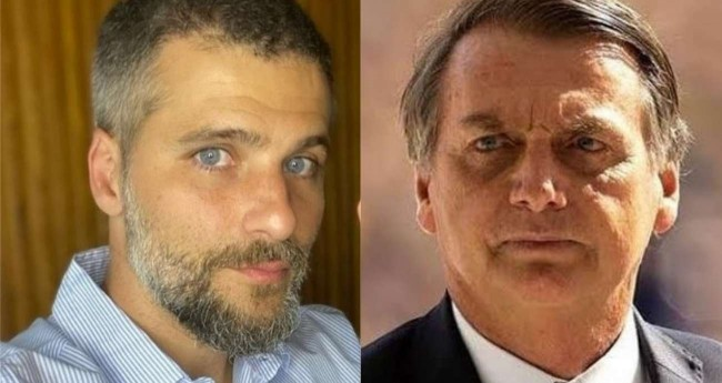 Fotomontagem: Bruno Gagliasso e Jair Bolsonaro (Reprodução)