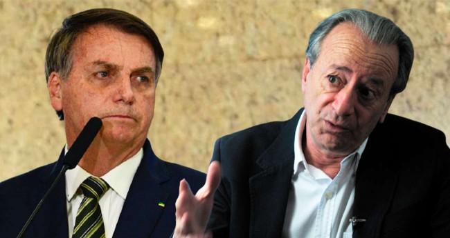 Fotomontagem: Jair Bolsonaro e Mario Sergio Conti (Reprodução)
