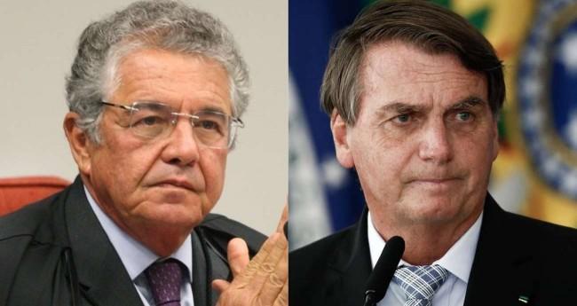 Fotomontagem: Marco Aurélio Mello e Jair Bolsonaro - Foto: Nelson Jr./SCO/STF; Reprodução