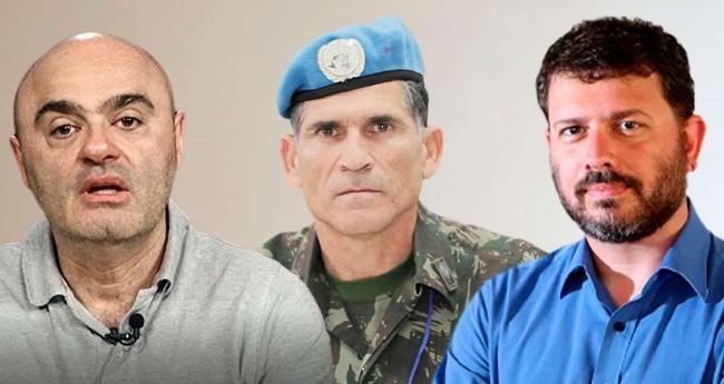 Fotomontagem: Mario Sabino, Gen. Santos Cruz e Pedro Doria (Reprodução)