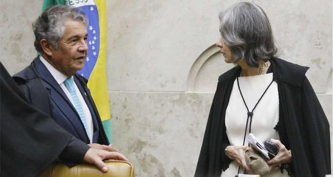 Marco Aurélio Mello e Cármen Lúcia (Reprodução/STF)