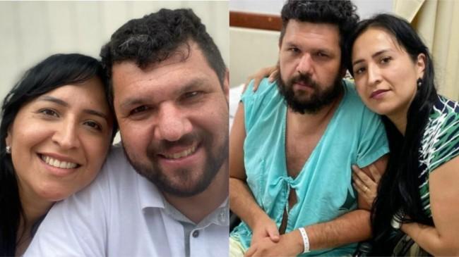 Oswaldo, antes de ser preso, e após sofrer acidente que o deixou paraplégico.