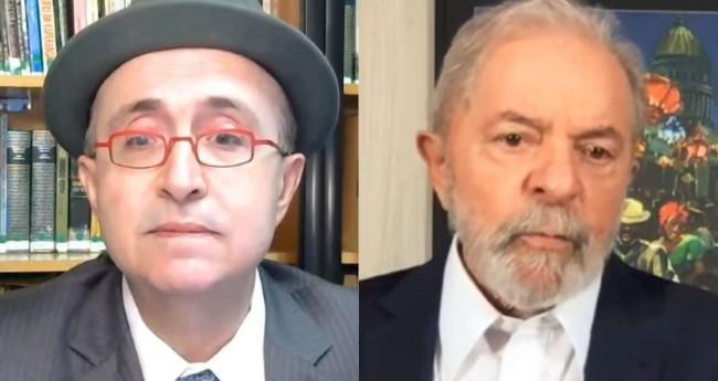 Fotomontagem: Reinaldo Azevedo e Lula (Reprodução)