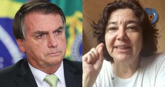 Fotomontagem: Jair Bolsonaro e Regina Villela - Marcos Corrêa/PR; Reprodução