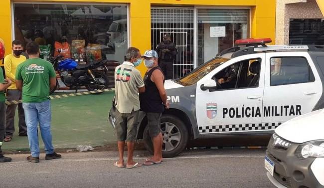 Criminoso é morto a tiros em tentativa de assalto a pet shop na Zona Norte de Natal — Foto: Sérgio Henrique Santos/Inter TV Cabugi