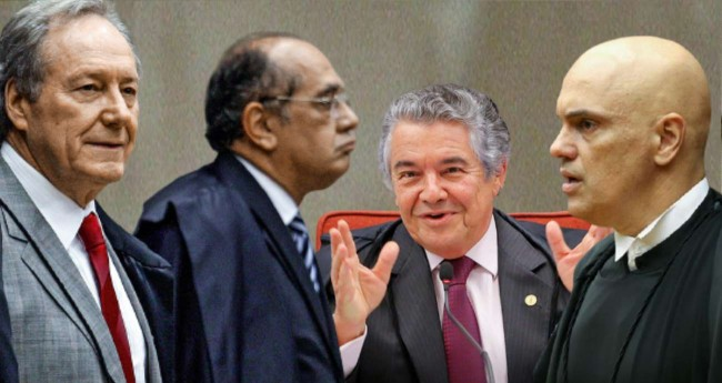 Fotomontagem: Ministros do STF