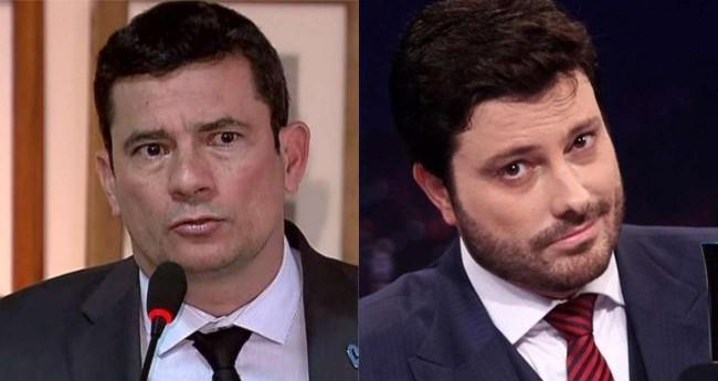 Fotomontagem: Sérgio Moro e Danilo Gentili (Reprodução)