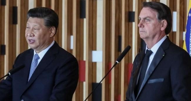 Xi Jinping e Jair Bolsonaro e evento do Brics - Foto: Isac Nóbrega/PR