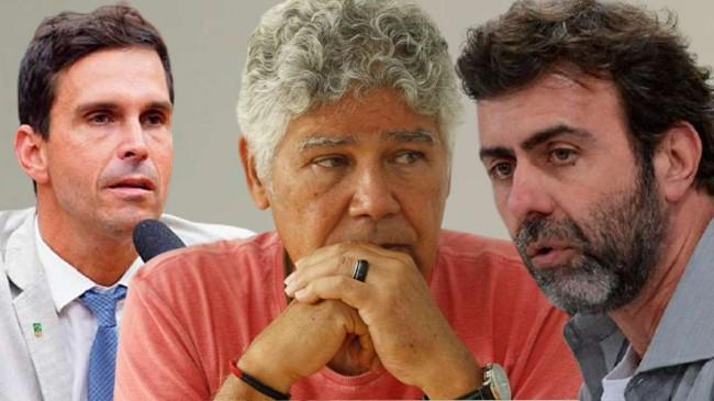 Fotomontagem: Luiz Lima, Chico Alencar e Marcelo Freixo (Reprodução)