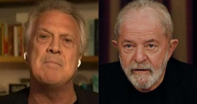 Fotomontagem: Pedro Bial e Lula (Reprodução)