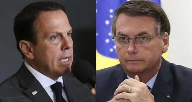Fotomontagem: João Doria e Jair Bolsonaro (Reprodução)
