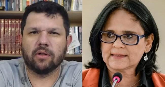 Fotomontagem: Oswaldo Eustáquio e Damares Alves (Reprodução)