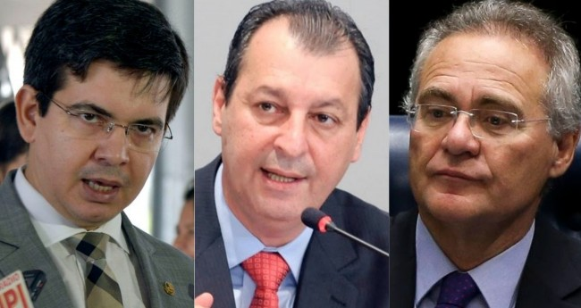 Randolfe Rodrigues, Omar Aziz e Renan Calheiros - Foto: José Cruz; Alex Pazuello/Agência Brasil e Marcelo Camargo/Agecom-AM