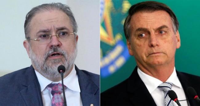 Fotomontagem: Augusto Aras e Jair Bolsonaro (Reprodução)