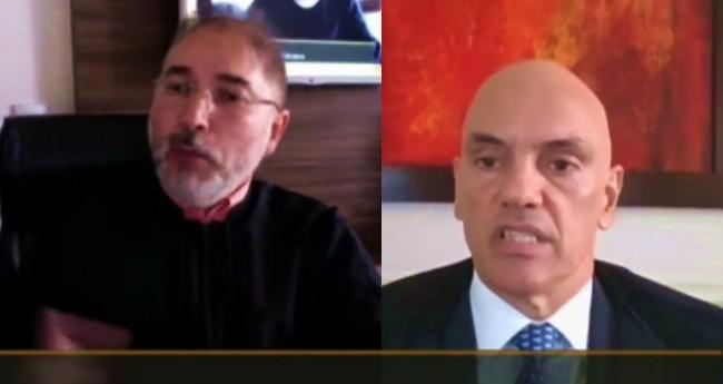 Jean Cleber Garcia Farias e Alexandre de Moraes (Reprodução)