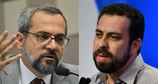 Abraham Weintraub e Guilherme Boulos (Reprodução)