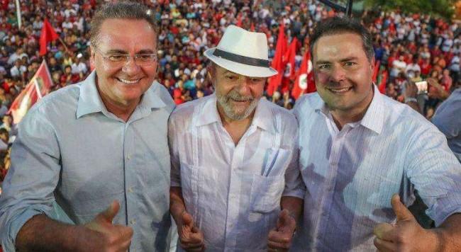 Senador Renan Calheiros, Lula e Renan Filho - Reprodução internet