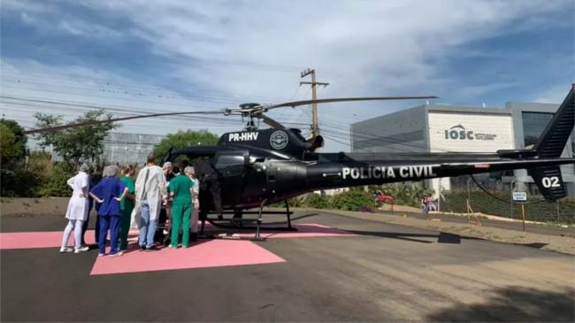 Foto: Serviço Aeropolicial da Polícia Civil de Santa Catarina