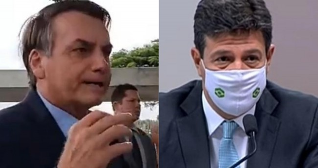 Jair Bolsonaro e Luiz Henrique Mandetta (Reprodução)
