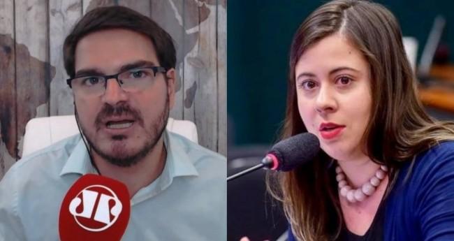 Rodrigo Constantino e Sâmia Bomfim (reprodução)