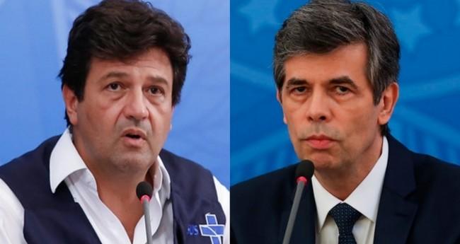 Luiz Henrique Mandetta e Nelson Teich (Reprodução)