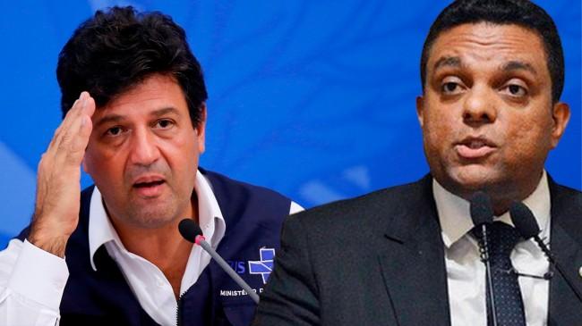 Luiz Henrique Mandetta e Otoni de Paula (Reprodução)