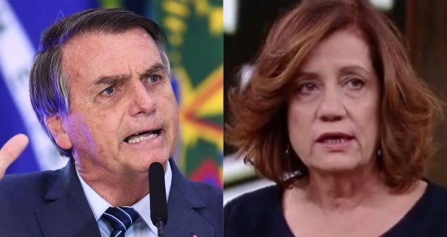 Jair Bolsonaro e Miriam Leitão (reprodução)