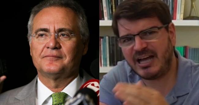 Renan Calheiros e Rodrigo Constantino - Foto: Marcelo Camargo/Agência Brasil; Reprodução