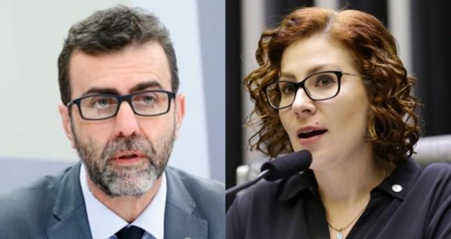Marcelo Freixo e Carla Zambelli (Reprodução)