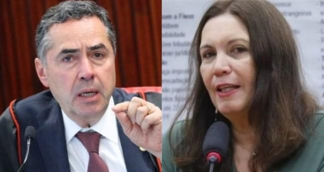 Luis Roberto Barroso e Bia Kicis