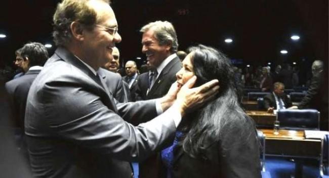 Renan e Rose de Freitas. Foto Geraldo Magela/Agência Senado