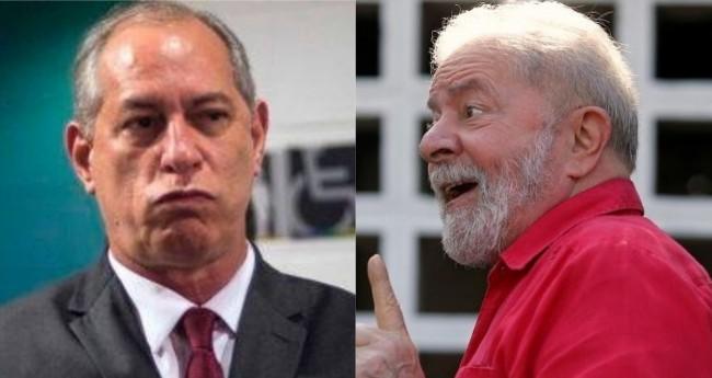 Fotomontagem: Ciro Gomes e Lula (Reprodução)