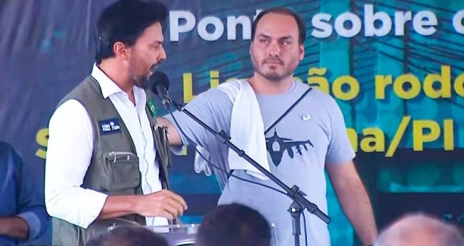 Fábio Faria e Carlos Bolsonaro (reprodução)