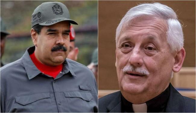 Maduro e o padre Sosa - Fotomontagem