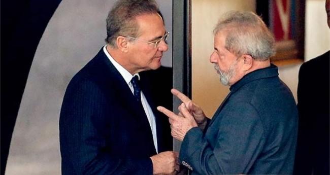 Renan Calheiros e Lula (Reprodução)