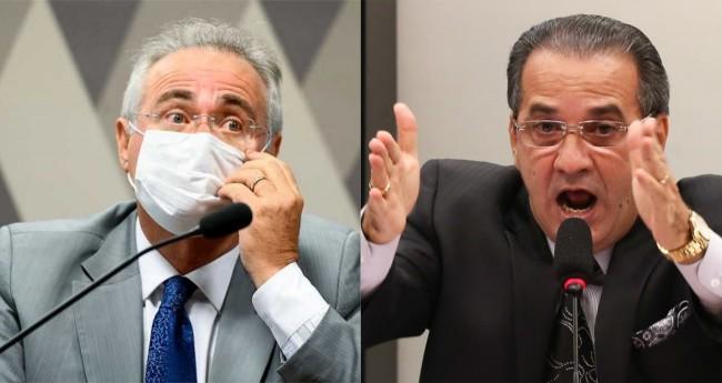 Renan Calheiros e Silas Malafaia - Foto: Jefferson Rudy/Agência Senado; Reprodução