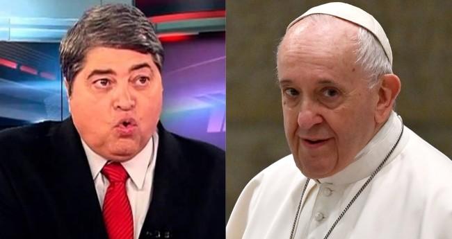 José Luiz Datena e Papa Francisco (reprodução)