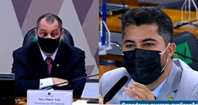 Omar Aziz e Marcos Rogério - Foto: Reprodução