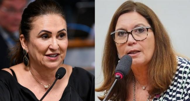 Kátia Abreu e Bia Kicis (reprodução)